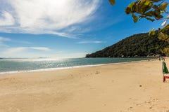 Laranjeiras海滩, Balneario Camboriu看法  圣卡塔琳娜州 免版税图库摄影