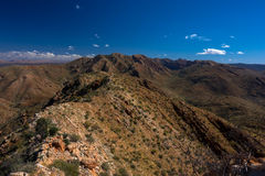 Larapinta trail, the Razorback Ridge, West MacDonnell Australia. Last year I walked the Larapinta trail in the Australian outback. More than 200 km across the stock image