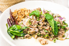 Larb Duck with spicy taste ,thai food Stock Photos