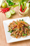 Larb, eend Thais voedsel Stock Afbeeldingen
