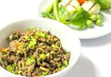 LARB--Gekochter Hackfleisch-würziger Salat Lizenzfreie Stockfotografie