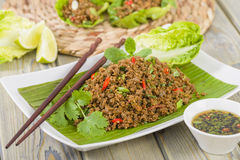 Free Larb - Lao Minced Beef Salad Royalty Free Stock Image - 31971736