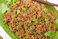 Larb - Lao Minced Beef Salad Royalty Free Stock Image