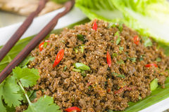 Larb - Lao Minced Beef Salad Royalty Free Stock Photos