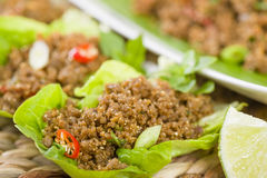 Larb - Lao Minced Beef Salad Stock Images