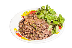 Larb. (northern Thai style  food Stock Photography