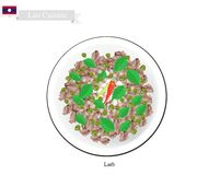 Larb Or Laos Spicy Minced Meat Salad Royalty Free Stock Photography