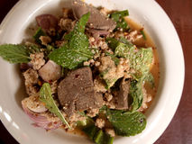 Larb pork salad.Traditional Thai food Stock Photography