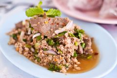 Larb thai style food Royalty Free Stock Photos