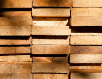 Larch planks ends Royalty Free Stock Image