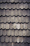 Larch shingles in Chiloe, Chile. Royalty Free Stock Photography