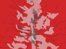 Larch abstract 2 red image make new landscape Royalty Free Stock Image