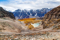 Larch Valley in the Canadian Rockies Royalty Free Stock Photos