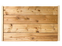 Larch wooden tray on white background Stock Photos