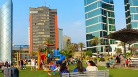 Larcomar-Einkaufszentrum am Miraflores-Bezirk Lima, Peru stockbild