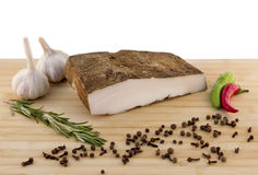 Lard on the board Royalty Free Stock Photography