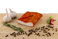 Lard on the board Stock Images
