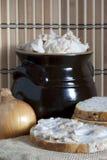 Lard in ceramic Stock Images