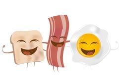 Lard et oeuf au plat de pain grillé Photographie stock libre de droits