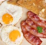Lard et petit déjeuner d'oeufs Image libre de droits