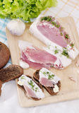 Bacon with dill Royalty Free Stock Photos