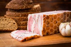 Lard and meat stock images