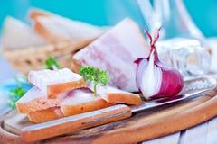 Lard and onion Royalty Free Stock Image