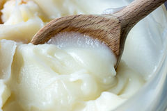 Lard. Is pig fat in both its rendered and unrendered forms Stock Photography