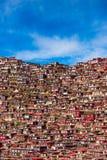 Larding Gar Sertar Sichuan China 2015. Larung Five Sciences Buddhist Academy Royalty Free Stock Photos