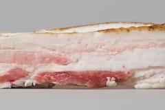 Lardo crudo affettato della carne di maiale Immagine Stock Libera da Diritti