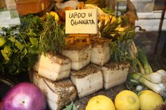 Lardo di Colonnata Royalty Free Stock Images
