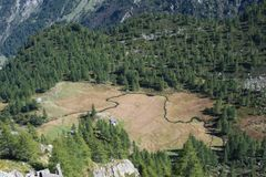 Larecchio Alpe στοκ εικόνα με δικαίωμα ελεύθερης χρήσης