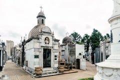 LaRecoleta kyrkogård Fotografering för Bildbyråer