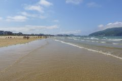Laredo beach, Cantabria, Spain. stock photos