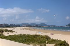 Laredo beach, Cantabria, Spain. royalty free stock photography