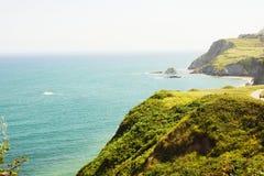 Laredo coast in summer stock images