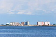 Laredo skyline near sea Royalty Free Stock Images