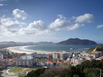 Laredo in spain. Panoramic view of coastal city of laredo in north of spain Royalty Free Stock Photography