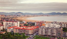Laredo is a touristy town in Cantabria, the north of Spain, is k Royalty Free Stock Photo