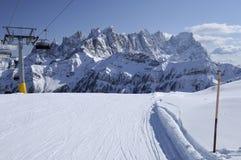 Laresei ski-run at falcade, dolomites Stock Images