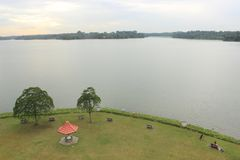 Upper Selatar reservoir in Singapore. A larg drinking water reservoir / lake in Singapore. Urban planning to make the small tropic city state more self reliant Stock Photography