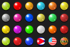 Large 3D buttons Royalty Free Stock Photo