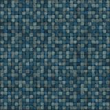 Large 3d render of blue mosaic wall floor Stock Image