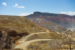 A large active mine in new mexico. Copper mining on a large scale as seen silver city Royalty Free Stock Photography