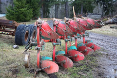 Large agricultural plow Royalty Free Stock Photography