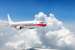Large aircraft flying in the sky Stock Photography