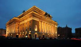 Large Alexandrine Theatre in Saint Petersburg, Russia Stock Photos