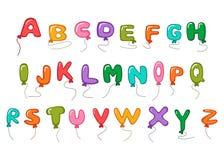 Large alphabet balloon cartoon. Full color Stock Photography