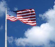 Large American Flag Royalty Free Stock Photography