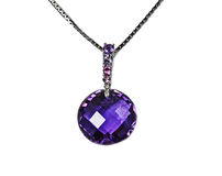 Large Amethyst Necklace Royalty Free Stock Photography